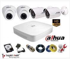 Trọn bộ 1-8 Camera Dahua giá rẻ HD720P (1.0MP)